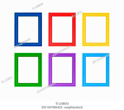 Multi colored photo frames for children picture composed in composition
