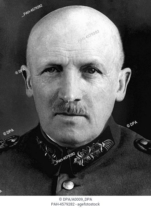 Undated picture of German general and politician Kurt von Schleicher. Kurt von Schleicher was born on the 7th of April in 1882 in Brandenburg/Havel
