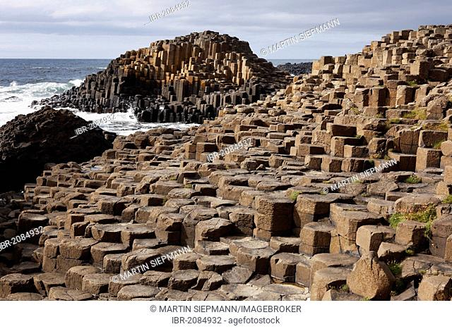 Basaltic columns, Giant's Causeway, Causeway Coast, County Antrim, Northern Ireland, United Kingdom, Europe