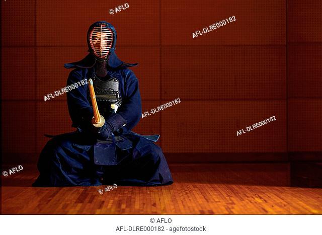 Japanese kendo athlete