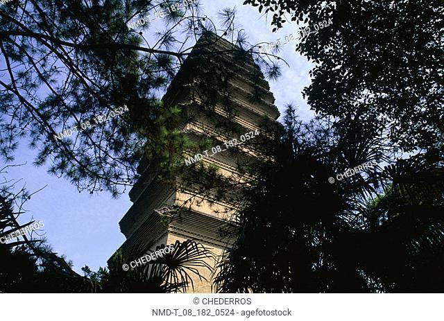 Low angle view of a pagoda, China