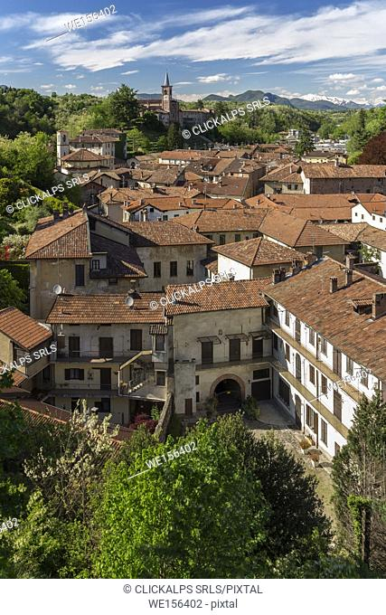 View of the medieval town of Castiglione Olona, Varese Province, Lombardy, Italy