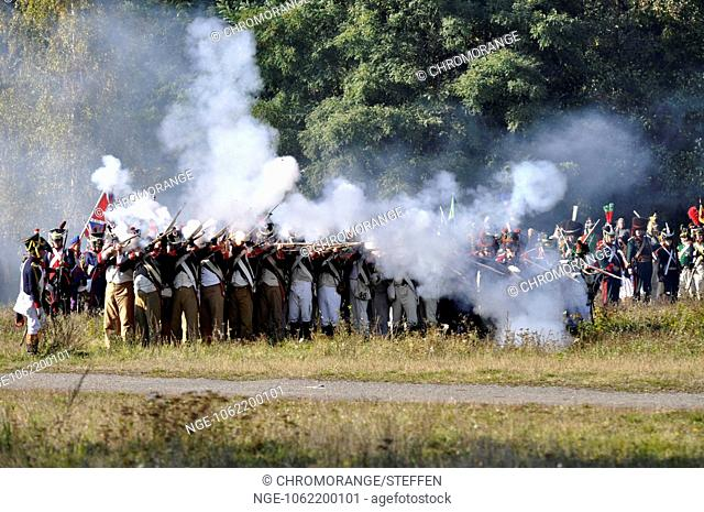 Battle of nations lipsia 1813 Saxonian soldiers