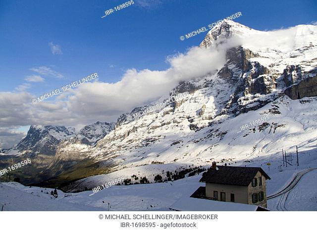 North Face of Eiger Mountain, Bernese Oberland, Canton of Bern, Switzerland, Europe
