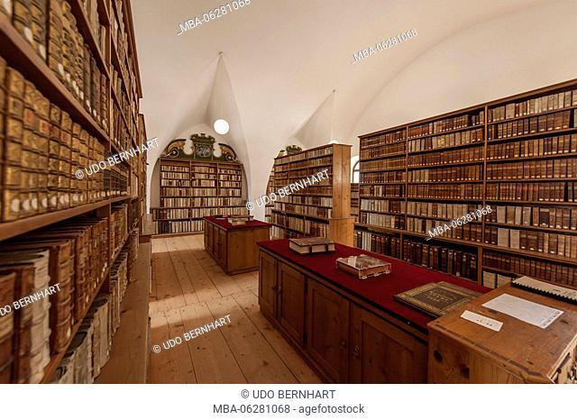 Austria, Tyrol, Stams, Abbey Stams, Cistercian cloister, seminary library