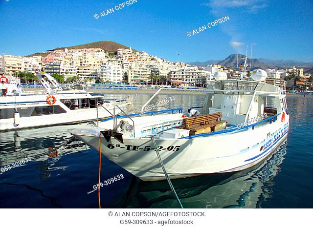 Los Cristianos fishing harbour. Tenerife, Canary Islands. Spain