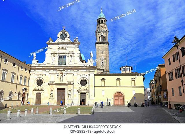 San Giovanni Evangelista Church, Piazzale San Giovanni, Parma, Emilia-Romagna, Italy, Europe