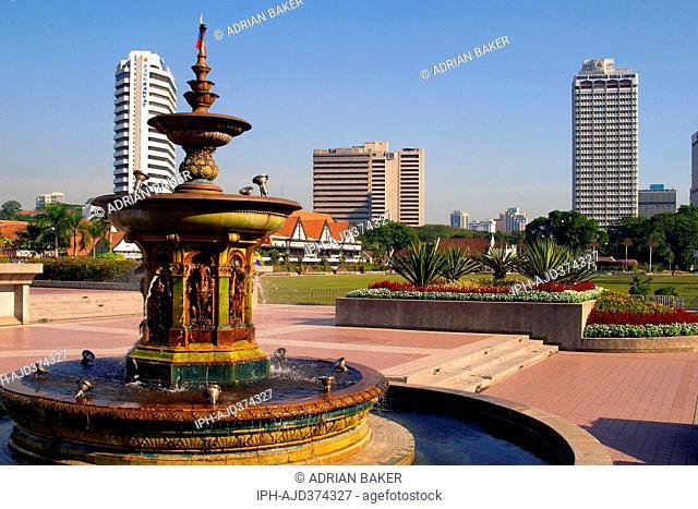 Malaysia Kuala Lumpur Fountain, Merdeka Square Adrian Baker