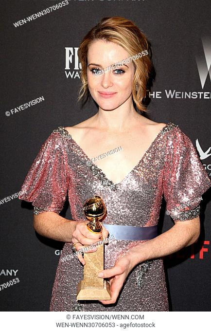 The Weinstein Company And Netflix Golden Globes Party Featuring: Claire Foy Where: Beverly Hills, California, United States When: 08 Jan 2017 Credit:...