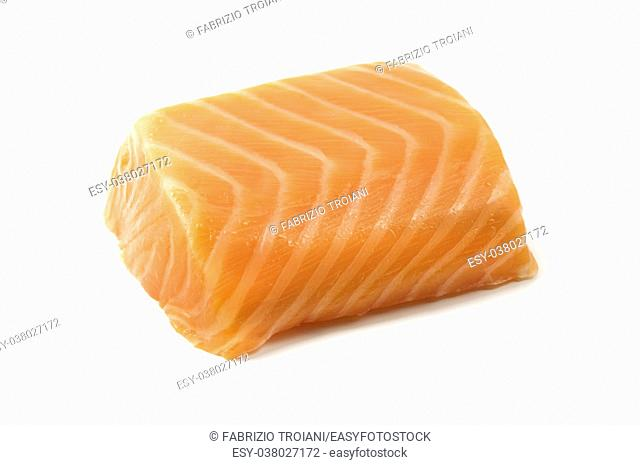 Smoked salmon fillet on a white background
