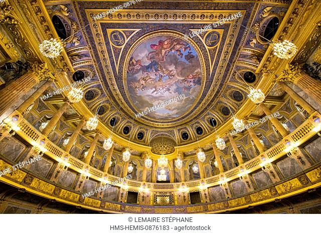 /France, Yvelines, Versailles palace listed as World Heritage by UNESCO, the opera house