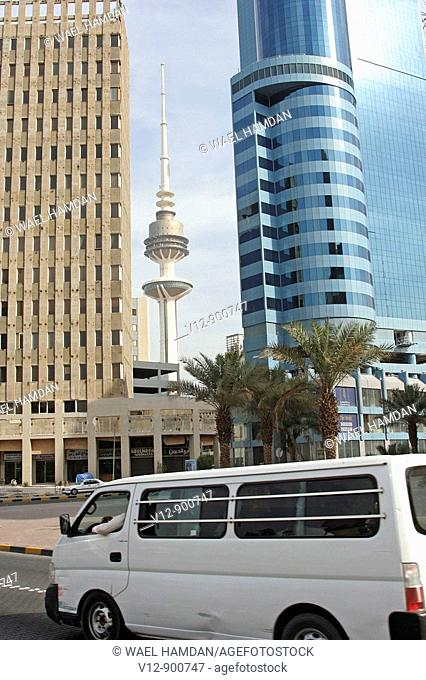 Transport at Kuwait City,Fahad Al Salem Street, Downtown, Kuwait