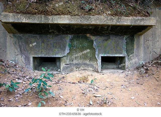 Remains of forts used against the Japanese troops during the second world war, Sha Tau Kok, New Territories, Hong Kong