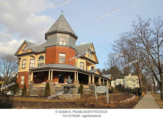 This Queen Anne Victorian built in 1901 became Union Gables Bed and Breakfast in 1992  Saratoga Springs, New York, United States