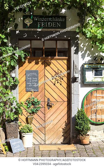 Decorative display of a tavern in Ediger-Eller, Rhineland-Palatinate, Germany, Europe