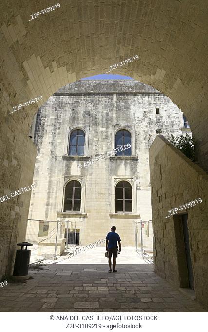 Cityscape in Lecce. Puglia, Italy. Charles V castle
