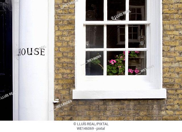 House, Window, London, Chelsea, England