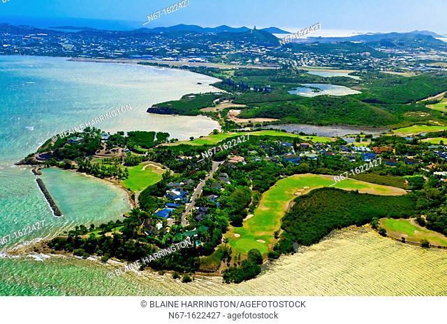 Aerial View, Tina Golf Course, Gulf of Tina, Noumea, Grand Terre, New Caledonia