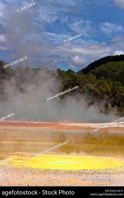 Geothermal colorful pool