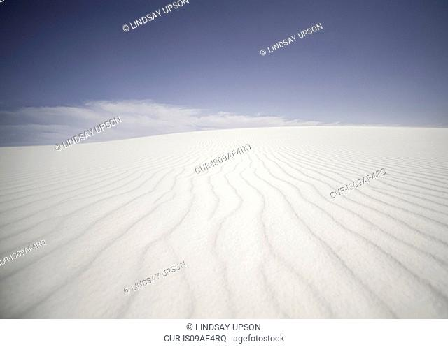 Rippling sand dune, White sands, New Mexico, USA