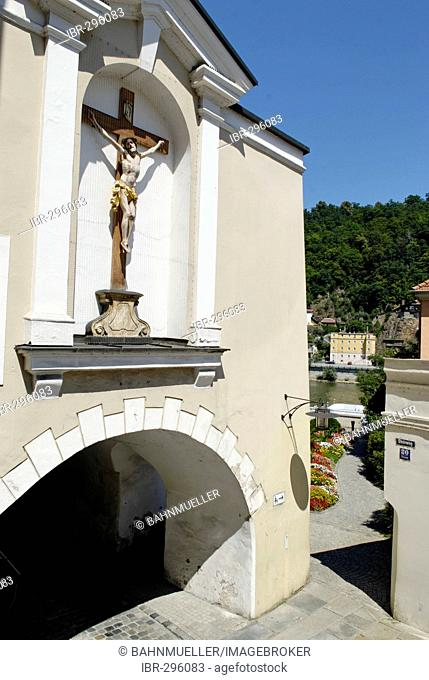 Passau Lower Bavaria Germany town gate Paulusbogen