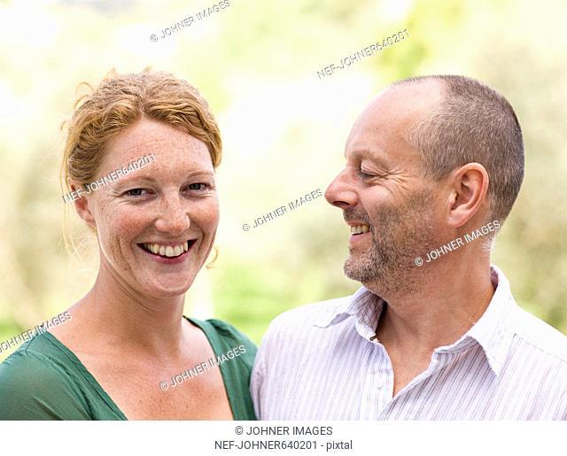 Portrait of a Scandinavian couple, Spain