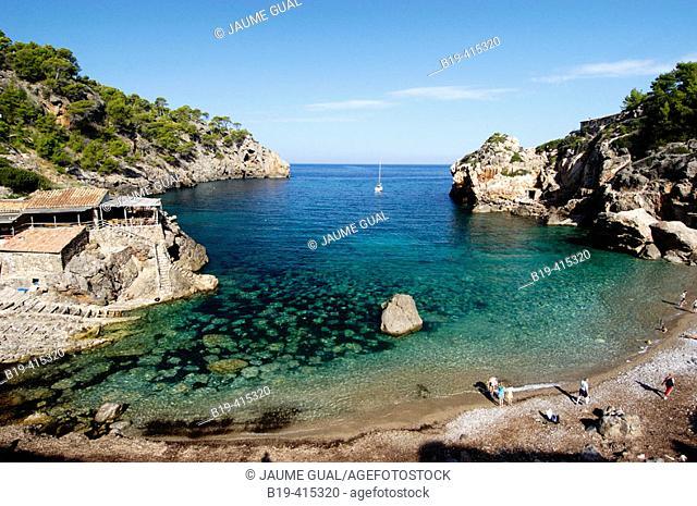 Deià cove, Serra de Tramuntana. Majorca, Balearic Islands. Spain