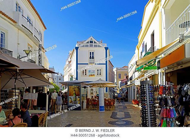 Street view, pedestrian zone, Lagos Portugal