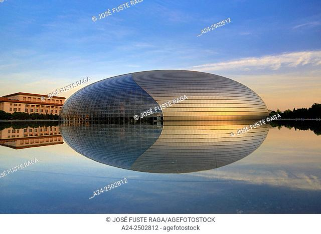 China, Beijin City,, National Center for the Performing Arts, National Grand Theater