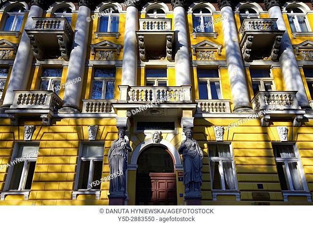 Residential architecture, Spa resort Marianske Lazne - Marienbad, West Bohemia, Czech Republic, Europe