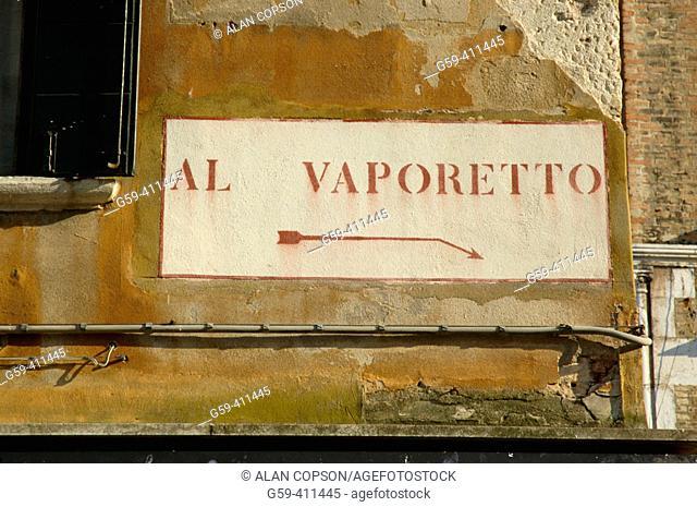 Italy. Venice. Al Vaporetto (To the Waterbus)