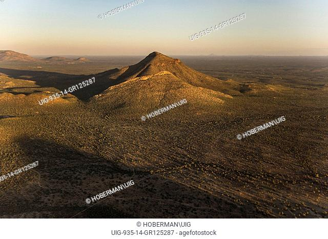 Aerial View Od The Erongo Mountains In Namibia