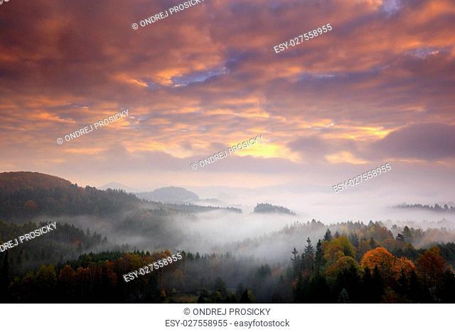 Czech typical autumn landscape