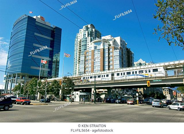 Skytrain Station, False Creek, Vancouver, British Columbia