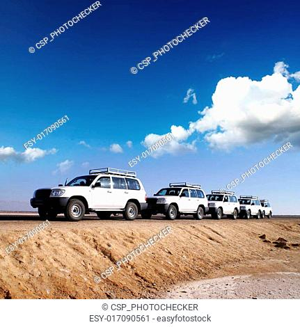 By jeeps with 4 deserts of Africa