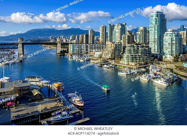 West End, False Creek skyline, Vancouver, British Columbia, Canada
