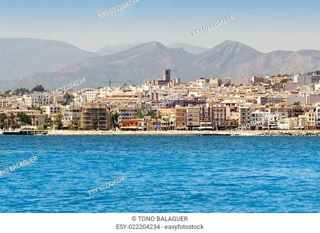Alicante Javea village view from mediterranean sea