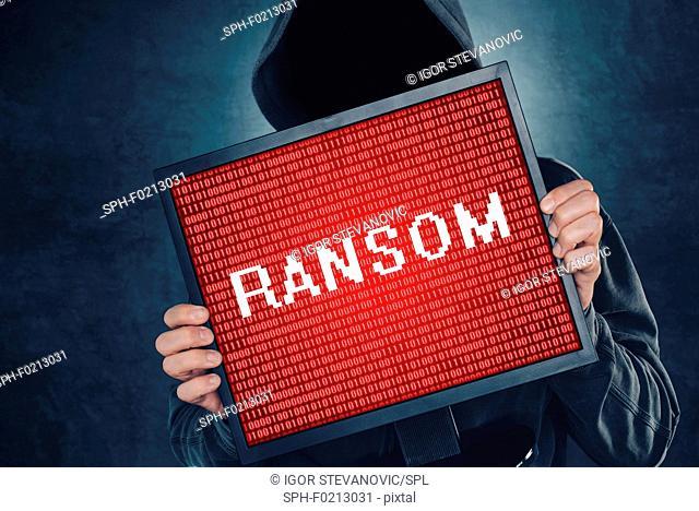 Ransomware computer virus, conceptual image