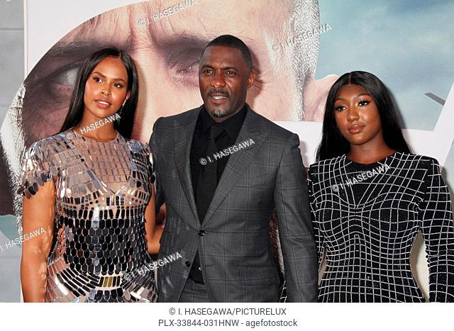 "Sabrina Dhowre Elba, Idris Elba, Isan Elba 07/13/2019 The world premiere of """"Fast & Furious Presents: Hobbs & Shaw"""" held at the Dolby Theatre in Los Angeles"