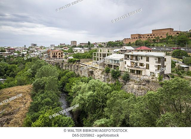 Armenia, Yerevan, high angle city view from Haghtanak Bridge