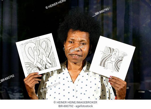 Jane Wena, artist, Port Moresby, Papua New Guinea, Melanesia