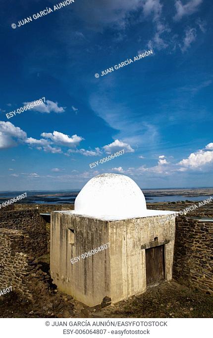 Concrete water deposit at Magnificent village of Monsaraz, Portugal