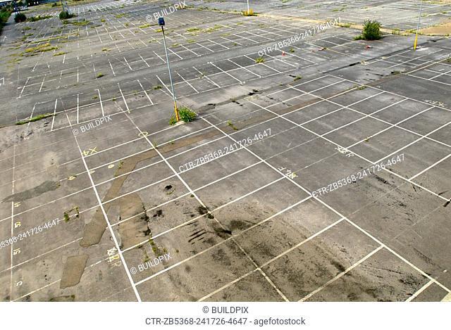 Empty car park, East London, UK