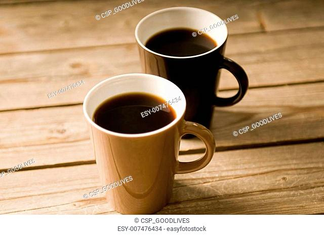 Two Cups of coffee with shallow DOF
