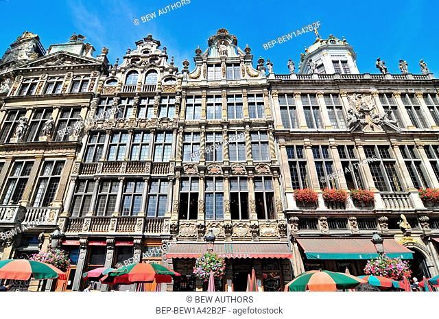 Guildhalls on the Grand Place Brussels Belgium