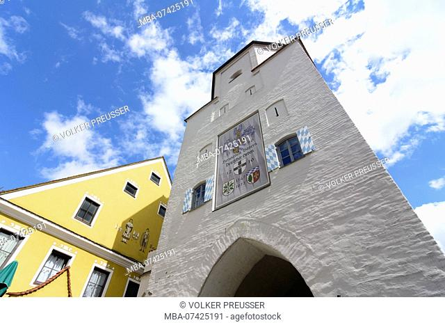 Aichach, city gate Unteres Tor (Lower Gate), Swabia, Bavaria, Germany