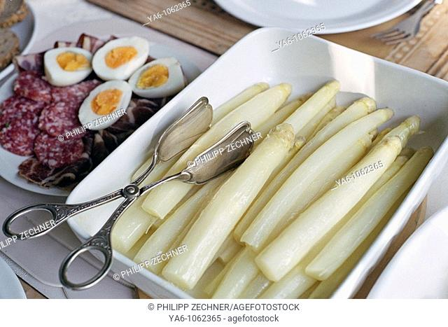 Asparagus dish cold plate, Germany
