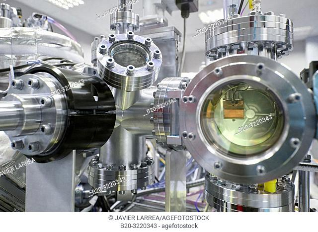Ultra High Vacuum Chamber with Dual Deposition System. Nanotechnology. Laboratory. CIC nanoGUNE Nano science Cooperative Research Center. Donostia