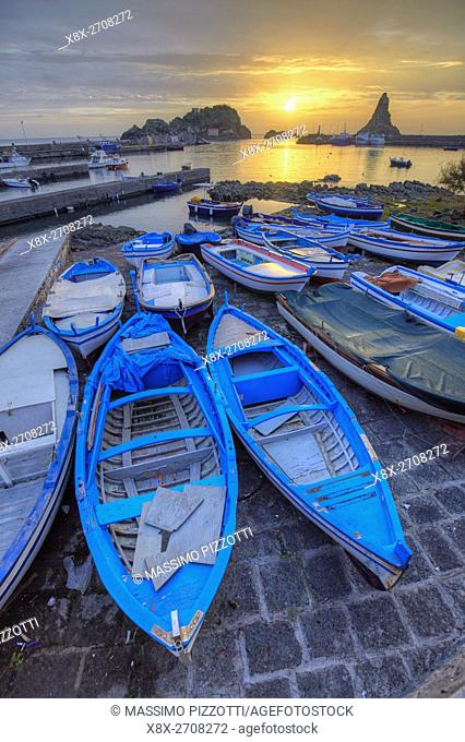 The little port of Aci Trezza, Sicily, Italy