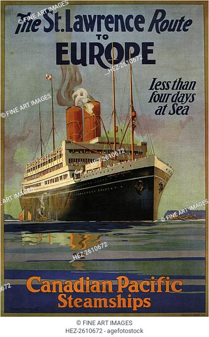 Canadian Pacific St. Lawrence Route To Europe, 1925. Artist: Ward, William Dudley Burnett, the Younger (1879-1935)